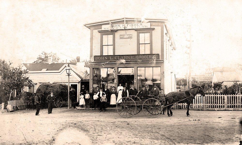 Merchants of Church Street in 1885